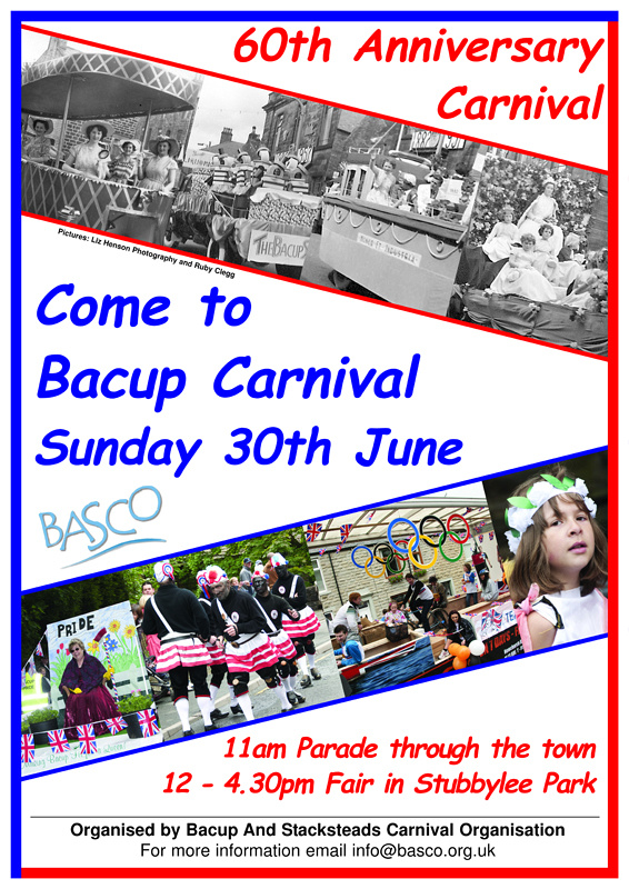 Poster for Bacup & Stacksteads Carnival 2013