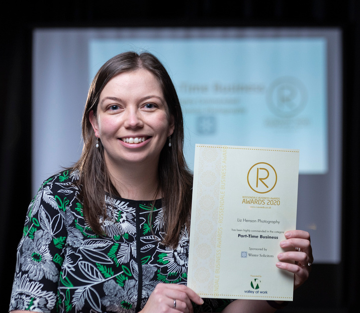 Liz Henson Photography Highly Commended Part Time Business 2020 at the Rossendale Business Awards