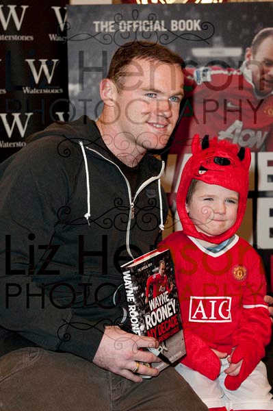 Manchester United Footballer, Wayne Rooney signed copies of his latest book